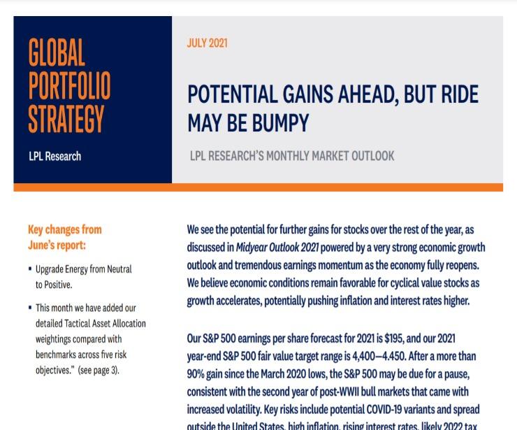 Global Portfolio Strategy | July 15, 2021